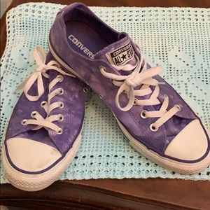 Purple tie dye Converse All Star Sneakers
